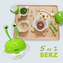 Berz Βρεφικό Σετ Φαγητού 5 σε 1 Πράσινο Καβουράκι