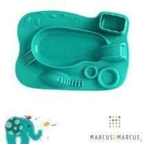 Παιδικό Πιάτο σιλικόνης amusemat φαγητού Marcus & Marcus Τιρκουάζ