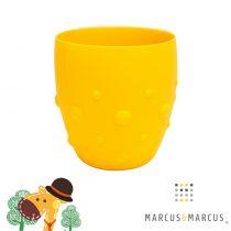 Βρεφικό Παιδικό Ποτήρι σιλικόνης βρεφικό με καρούμπαλα εκπαιδευτικό Marcus & Marcus κίτρινο Giraffe