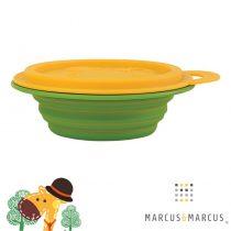 Βρεφικό Μπολ Πτυσσόμενο με καπάκι Φαγητοδοχείο σιλικόνης Marcus & Marcus πράσινο κιτρινο