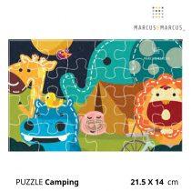 Βρεφικό Πάζλ Camping ζωάκια marcus & marcus puzzle 21.5x 14 cm