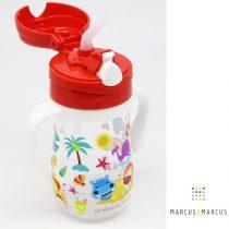 Παιδικό Μπουκάλι Tritan καλαμάκι σιλικόνης, χερούλια εκμάθησης κόκκινο Marcus & Marcus
