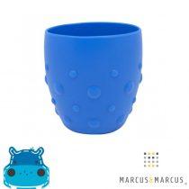 Βρεφικό παιδικό Ποτήρι σιλικόνης βρεφικό με καρούμπαλα εκπαιδευτικό Marcus & Marcus blue
