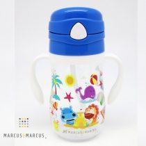 Παιδικό Μπουκάλι Tritan, καλαμάκι σιλικόνης χερούλια εκμάθησης Μπλέ marcus & marcus