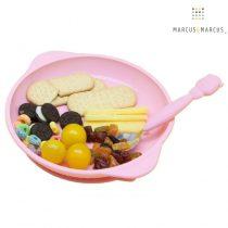 Πιάτο σιλικόνης με αντιολισθητική βάση βεντούζα Marcus & Marcus Suction ροζ