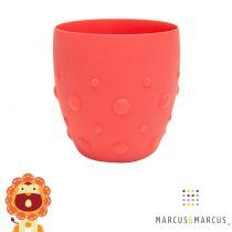 Παιδικό Ποτήρι σιλικόνης καρούμπαλα Marcus & Marcus κόκκινο Λιονταράκι