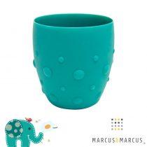 Βρεφικό Παιδικό Ποτήρι σιλικόνης βρεφικό καρούμπαλα Marcus & Marcus Τιρκουαζ Ελεφαντάκι