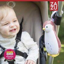 ZOE Πιγκουίνος Ζωάκια ύπνου Ηχείο Ασύρματο, Φως, χτύπο καρδιάς, λευκοί ήχοι ZAZU pink