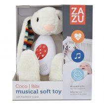 Λαγουδάκι BIBI Ζωάκια βοηθός ύπνου με χτύπο καρδιάς & λευκούς ήχους ZAZU