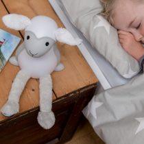 Fin Προβατάκι παιδικό πορτατίφ φώς νυκτός & ανάγνωσης LED, με USB ZAZU grey