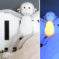 Max Μαιμουδάκι φωτάκι νυκτός με λευκό ήχο & μελωδίες ΖAZU Ζωάκια ύπνου νανουρίσματος