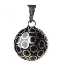Bola Μενταγιόν εγκυμοσύνης – black silver circles
