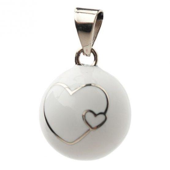 Bola Μενταγιόν εγκυμοσύνης – white 2 hearts