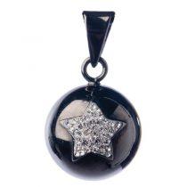 Bola Μενταγιόν εγκυμοσύνης – black silver star