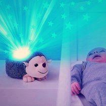 Σκαντζόχοιρος Harry Προτζέκτορας αστεριών ύπνου με χτύπο καρδιάς, λευκό ήχο, μελωδία ZAZU πλενόμενος