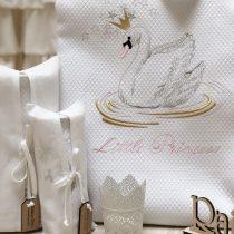 Swan with a Crown Κουβέρτα Πικέ Κρεβατιού