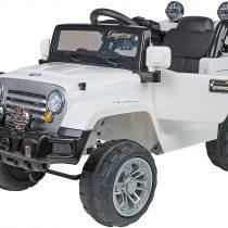 Globo Ηλεκτροκίνητo Jeep Car Off Road Ασπρο 12V Με Τηλεχειριστήριο(39347)