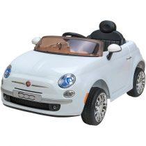 FIAT 500 White 12V Ηλεκτροκίνητο αυτοκίνητο με τηλεχειριστήριο