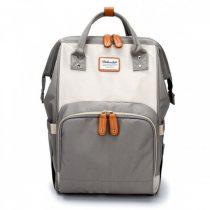 Τσάντα πλάτης μωρού γκρι-μπεζ
