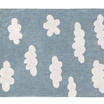 Lorena Canals. Χαλί δωματίου «Συννεφάκια» γαλάζιο. Vintage Blue