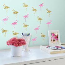 RoomMates. Αυτοκόλλητα τοίχου «Flamingos».