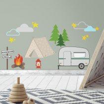 RoomMates. Αυτοκόλλητα τοίχου «Camping».