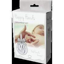 Happy Hands Ornament Kit Silver Ribbon