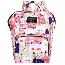 Τσάντα πλάτης μωρού ροζ με γατούλες L.T.S.