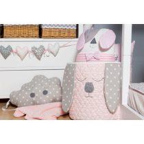 Καλάθι Παιχνιδιών Κεντημένο Sugar Family Pink/Grey