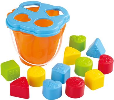 Playgo I & T Shape Sorting Κουβάς 12Τμχ