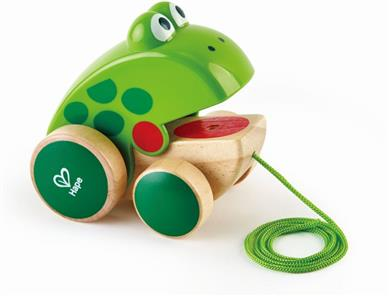 Hape Push & Pull Ξύλινο Συρόμενο Βατραχάκι