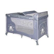 Παρκοκρέβατο Moonlight 2 Layers Lorelli SILVER BLUE CAR