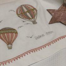 Raison D' Etre Σετ Σεντόνια Κούνιας Hot Air Balloon 120x160cm Pink