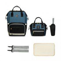 Σετ τσάντα μωρού LEQUEEN μαύρο-μπλε τζιν