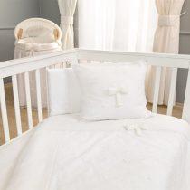 Σετ σεντόνια κούνιας FUNNA BABY Premium, χρώμα white
